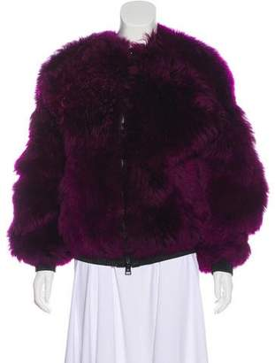 Tom Ford Leather-Trimmed Shearling Jacket w/ Tags