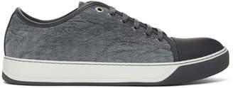 Lanvin Grey Calfskin Sneakers