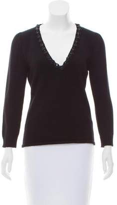 Andrew Gn Embellished Cashmere Sweater w/ Tags