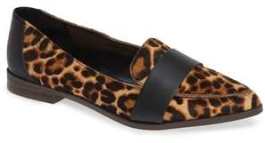 Sole Society Edie Genuine Calf Hair Pointy Toe Loafer