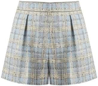 MIU MIU Mid-rise wool-blend tweed shorts
