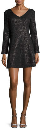 Anna Sui Textured Mini Dress