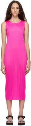 Pleats Please Issey Miyake Pink Colorful Basics 2 Dress