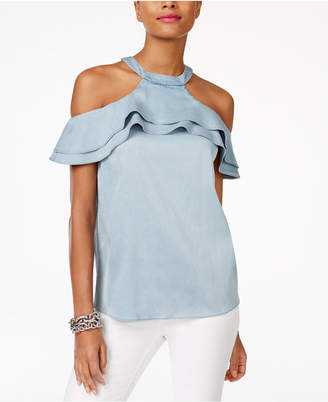 Inc International Concepts Cold-Shoulder Top, Only at Macy's $79.50 thestylecure.com