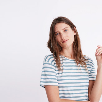 Whisper Cotton Crewneck Tee in Joey Stripe $32 thestylecure.com
