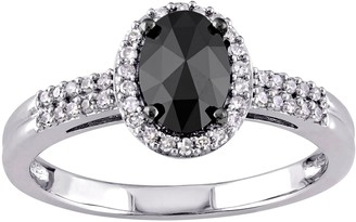 Black Halo Affinity Diamond Jewelry Oval Diamond Ring, 14K Gold, 1cttw,by Affinity