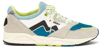 Aria Suede And Mesh Running Trainers - Mens - Blue Multi