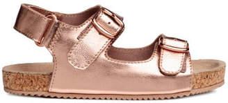 H&M Suede Sandals - Brown