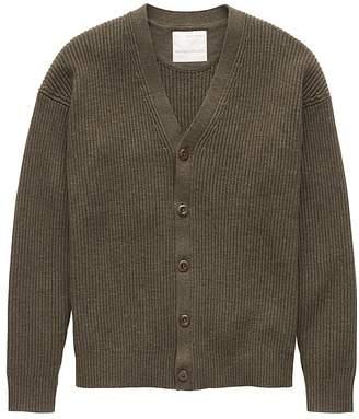 Banana Republic Heritage Cotton Ribbed Cardigan Sweater