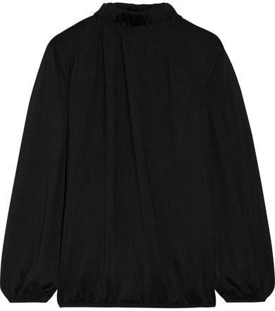 TOM FORD - Cutout Silk Top - Black