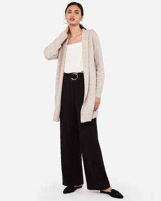 Express Ribbed Hooded Open Cardigan