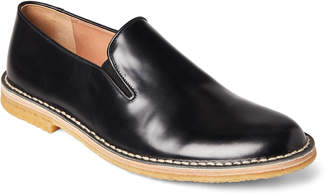 Dries Van Noten Black Leather Crepe-Sole Slip-Ons