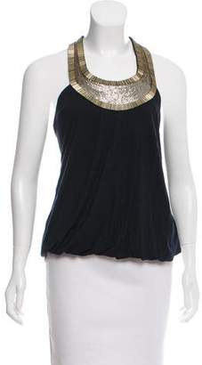 Haute Hippie Embellished Sleeveless Top