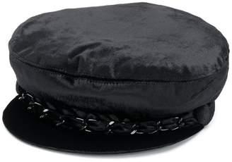 Eugenia Kim velvet chain detail hat