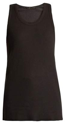 Haider Ackermann Katz Scoop Neck Jersey Tank Top - Womens - Black