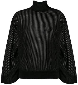 Givenchy sheer roll-neck sweater