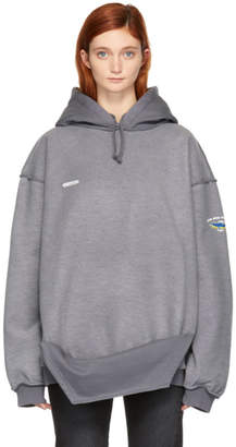 Vetements Grey Inside-Out Shark Hoodie