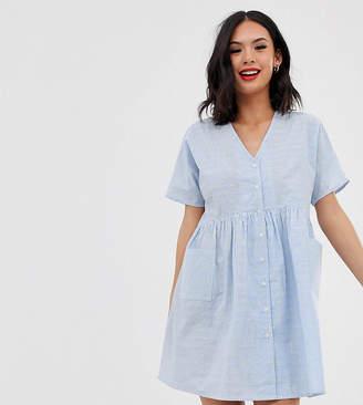 Wednesday's Girl mini smock dress in fluro spot stripe