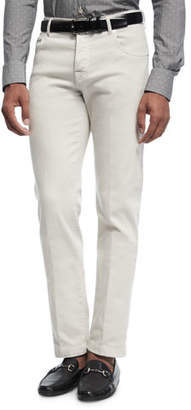 Kiton Stretch-Denim Straight-Leg Jeans