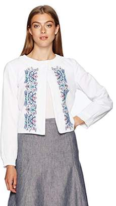 Nanette Lepore Nanette Women's Crop Jacket with Embroidery