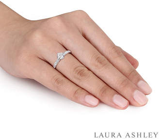Laura Ashley MODERN BRIDE Laura Asley Womens 1/2 CT. T.W. Genuine White Diamond 14K Gold Engagement Ring