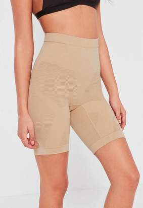 Missguided Nude High Control Super Smoothing Push Up Shapewear Shorts
