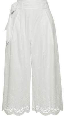 Raoul Embroidered Cotton-Gauze Culottes