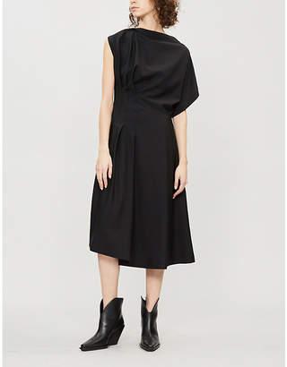 Jil Sander Ghirlanda asymmetric wool-blend dress