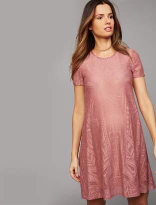 BCBGMAXAZRIA Pea Collection Lace Maternity Dress