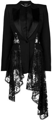 Alexander McQueen waterfall lace blazer