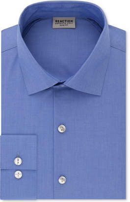 Kenneth Cole Reaction Men Techni-Cole Slim-Fit Performance Stretch Wrinkle-Free Flex-Collar Dress Shirt