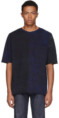 Blue Blue Japan Indigo Unevenly Hand-Dyed Big Slub T-Shirt