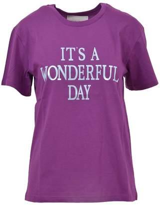 Alberta Ferretti Purple Crewneck T-shirt