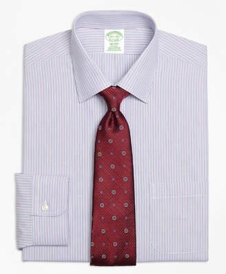 Brooks Brothers Milano Slim-Fit Dress Shirt, Non-Iron Narrow Stripe
