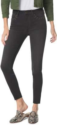 Sam Edelman The Kitten Studded Ankle Skinny Jeans