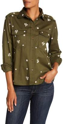 Joie Hayfa Embellished Front Button Blouse