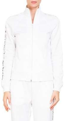 Givenchy Zip-Front Logo Sleeve Neoprene Track Jacket