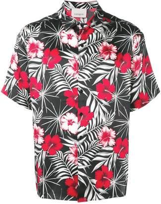 Laneus floral-print shirt
