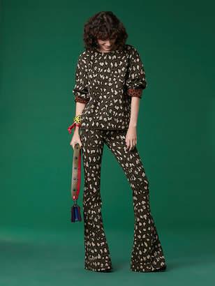 Diane von Furstenberg Long Sleeve Jacquard Sweatshirt