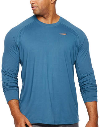 COPPER FIT Copper Fit Mens Crew Neck Long Sleeve T-Shirt-Big and Tall