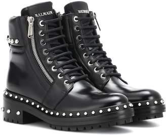 Balmain Ranger embellished leather ankle boots