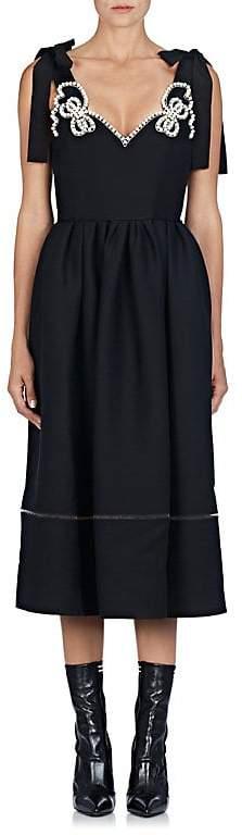 Fendi Women's Pearl Bow Wool-Silk Cocktail Dress