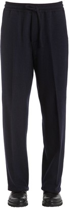 Piombo Mp Massimo Wool Blend Pants W/ Drawstring