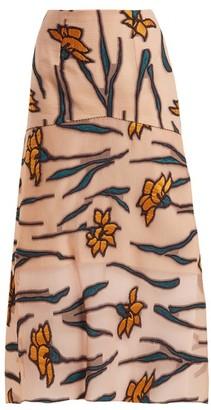 Roland Mouret Hilston Iris Fil Coupe Skirt - Womens - Pink Multi