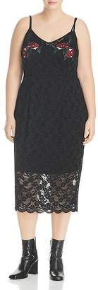 City Chic Embroidered Lace Dress