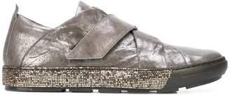 Henry Beguelin metallic strap sneakers