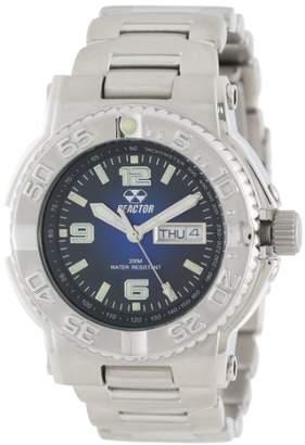 REACTOR Men's 74603 Critical Mass Degrading Blue Dial Stainless Steel Watch