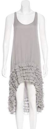 Thomas Wylde Sheer Ruffle Dress