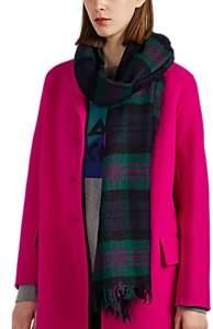 soeur Women's Edinbourg Checked Wool Bouclé Scarf - Green
