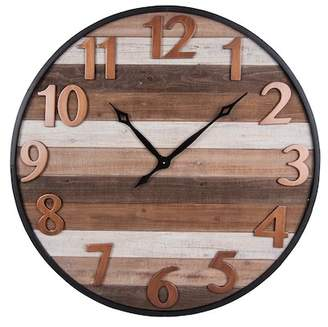 Foreside Home & Garden Aviator Wall Clock